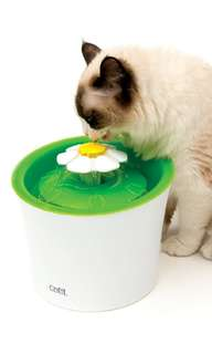 Catit 3L Flower Drinking Water Fountain - US Made Vet Approved