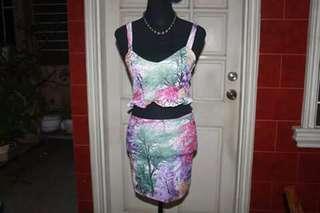 Croptop and skirt terno