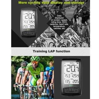 Meilan M4 Wireless Exercise  Bicycle Computer Cycling Speedometer Bluetooth Speed Cadence Sensor  with more cycling data display and storage