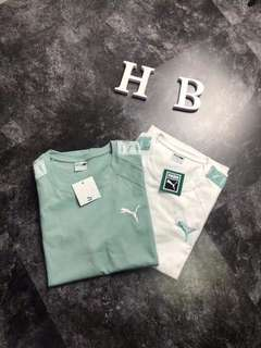 Puma tee in green or white