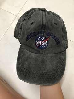 Inspired NASA wash off grey cap