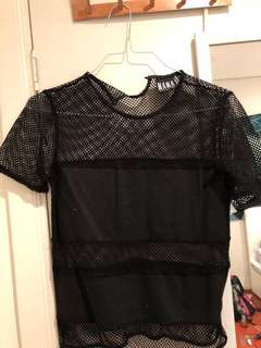 NANA Black Mesh Shirt