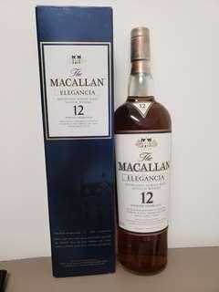 絕版 Macallan Elegancia 12年 1L裝, Whisky, 麥卡倫