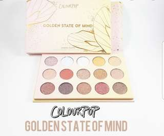 Authentic Colourpop Pressed Powder Shadow Palettes in GOLDEN STATE OF MIND ❤