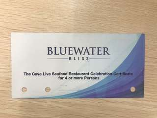 Food discount voucher at The Cove Restaurant in Bluewater Maribago