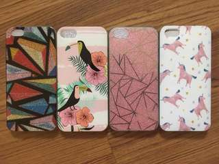 Preloved iPhone 5/5s/SE phone cases (bundle)