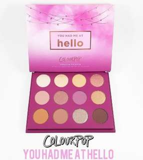 Authentic Colourpop Pressed Powder Shadow Palette in YOU HAD ME AT HELLO ❤