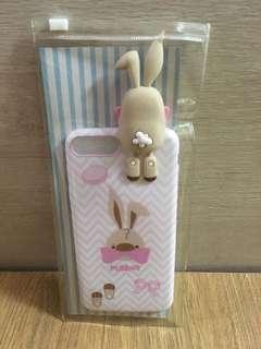 粉紅蝴蝶結兔仔手機殼 (iPhone7 plus)