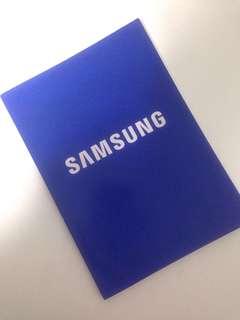 Blue Samsung line notebook