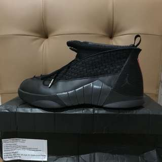 Nike Air jordan 15 retro stealth sz 42.5 us 9 vnds black
