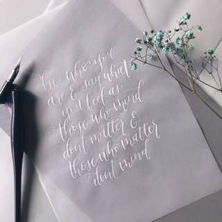 customizable modern calligraphy