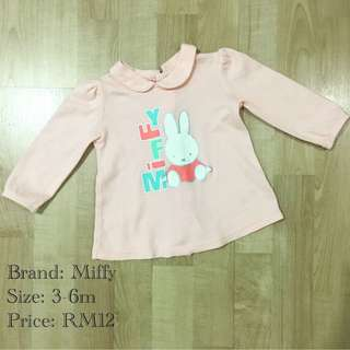 Preloved Miffy Baby Top