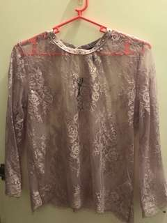 NEW LOOK see through blouse