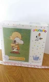 Made in Japan Peanuts Snoopy & Charlie Puzzle 史路比 108塊 砌圖