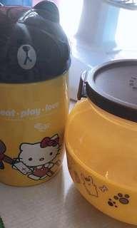7-11 熊大 陶瓷杯 收納盒