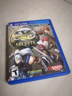 Original PS Vita YS Memories of Celceta Game Card
