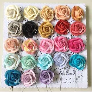 🚚 5cm Mulberry rose buds paper flowers