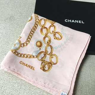 AUTHENTIC CHANEL Silk Scarf Shawl