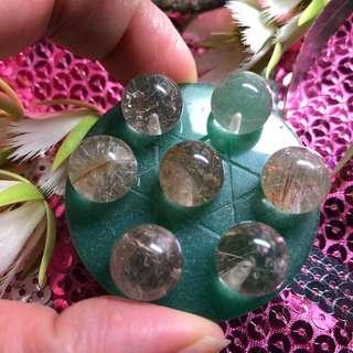 天然水晶、七晶陣、金髮晶、水晶