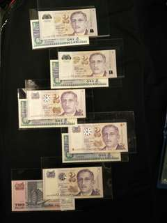 4pair  of 8pc sg  notes all $268