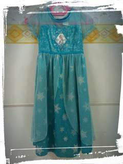 Frozen Dress 6-7 tahun