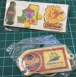 可口可樂 匙扣和襟章 包郵