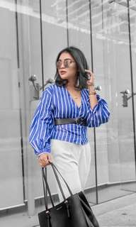 Stripes polo blouse