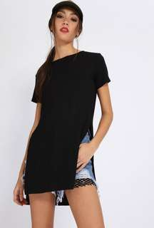 Zara Black Shirt with Side Slit