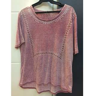 COTTON ON pink shirt with silver studs
