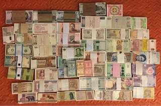 23 country 53 sheets banknote not repeating