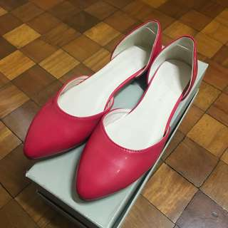 Lady Rustan Pink Pointed Flats
