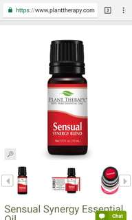 BN unopened plant therapy sensual synergy essential oil