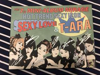 T-Ara sexy love 7th mini album AUTOGRAPHED