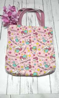 Little Twin Stars Canvas Tote Bag
