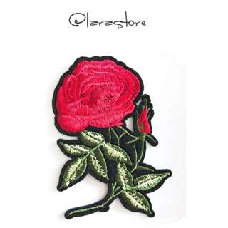 Bn iron on patch/embroidered rose iron on patch