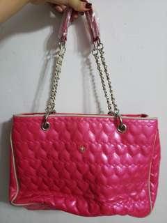 全新粉色傘仔牌上膊袋