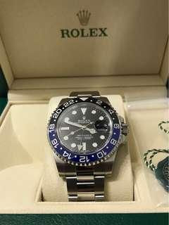 Mint condition Mar 17 Rolex Batman 116710 BLNR