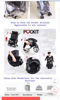 Pockit Recline Stroller with free additional accessories