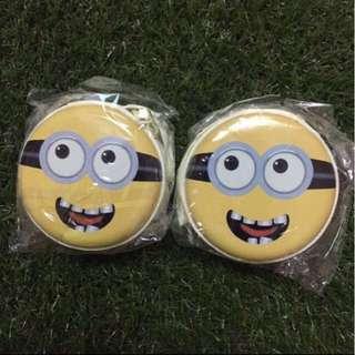 Minion round hard case pouch