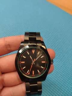 閃電針 黑色40mm 機械錶