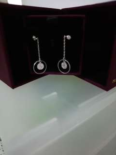 MaBelle 14k 白色黄金耳環