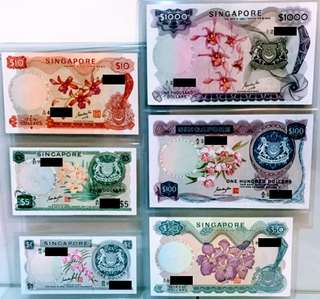 Goh Keng Swee (GKS) Orchid Series Banknotes. NOT FOR SALE (NFS)