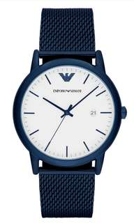 (Summer sale) Emporio Armani Ar11025 blue stainless steel watch