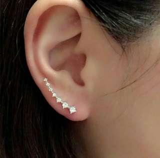 Rhinestone Hook earrings