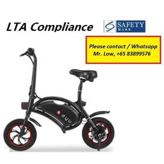 DYU LTA Compliance Scooter (Deluxe Version)