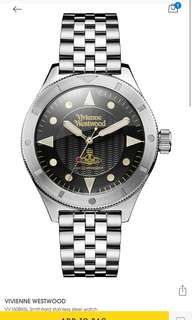 (Summer sale) Vivienne Westwood vv160bksl Smithfield stainless steel watch