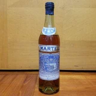 直樽凸珠彈弓蓋白纸40~50年代Martell馬爹利三星幹邑cognac 70cl