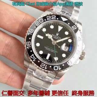 面交驗貨 終身保養      Rolex GMT Master II 116710 LN 綠針 V7 獨立時針教 3186機芯 新版 面交 最頂級