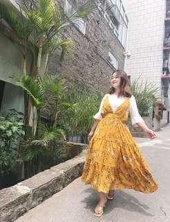 <Plus Size PO> Floral Outer Dress