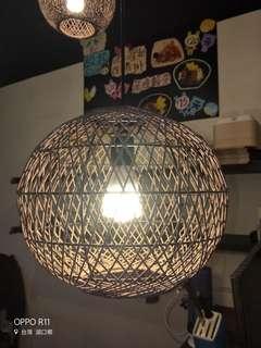 🚚 籐編造型吊燈